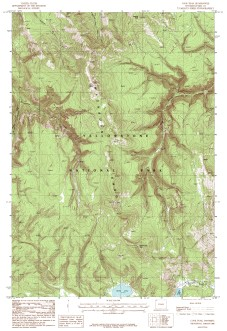 USGS Cook Peak, WY 1:24,000 Map