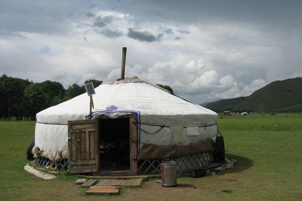 A Ger in Mongolia