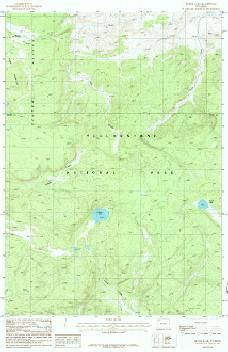 USGS Beach Lake, WY 1:24,000 Map