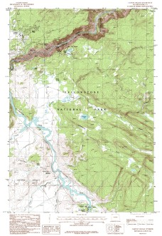 USGS Canyon Village, WY 1:24,000 Map