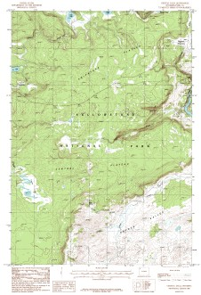 USGS Crystal Falls, WY 1:24,000 Map