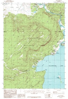 USGS Yellowstone Lake, WY 1:24,000 Map