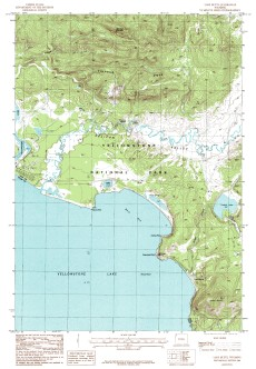 USGS Lake butte, WY 1:24,000 Map