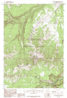 USGS Mount Washburn, WY 1:24,000 Map